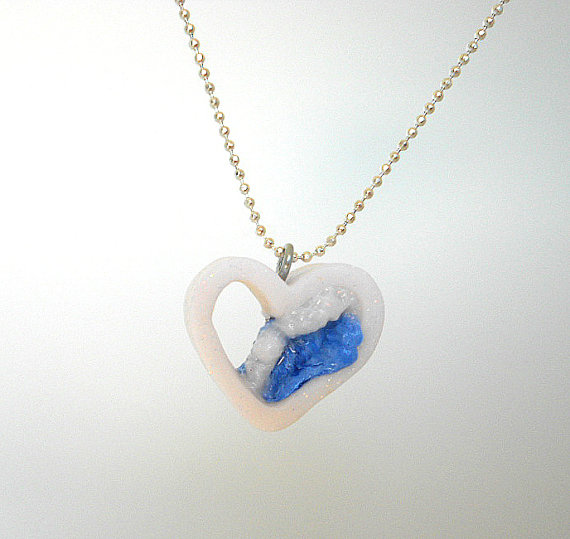 fanART- Tidal Wave Heart -gifts for her, handmade
